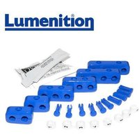1x EZK81B - Lumenition Blue - 8 Lead Set Markers & Clamps - Ignition Lead Numbe