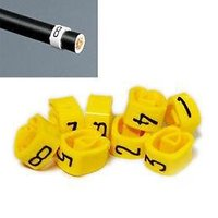 1 Pack - 8mm Cable HT Plug Lead Numbers - Markers 1 to 8 - Yellow
