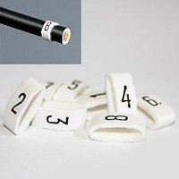 1 Pack - 7mm Cable Plug Lead Numbers - Markers 1 to 8 - White
