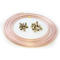 25ft x Cupro Copper Nickel Brake Pipe 3/16 10 x Male & Female Nut 10mm x 1mm