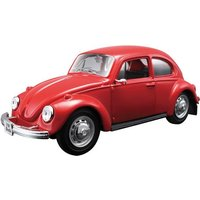 MAISTO VOLKSWAGEN BEETLE 1:24 SCALE MODEL KIT RED Toy Gift Classic Car Build