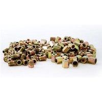 100 x Steel Short Male Brake Pipe Tube Nut 100 x Female Pipe Nut 10mm x 1mm