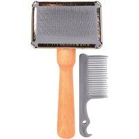 Trixie Dog Slicker Brush Including Brush Cleaner (2353)
