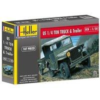 Heller Jeep Willys & Trailer (81105)