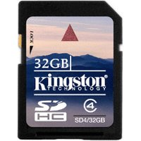 Kingston SDHC 32GB Class 4 (SD4/32GB)