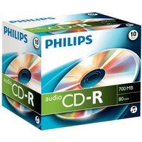 Philips CD-R Audio 700MB 80min 10pk Jewel Case
