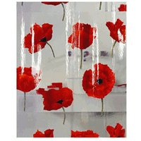 Spirella Cinnabar Poppy Shower Curtain