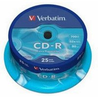 Verbatim CD-R 700MB 80min 52x Extra PRedection 25pk Spindle