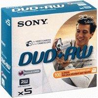 Sony DVD+RW Mini 1,4GB 30min 4x 5pk Jewel Case