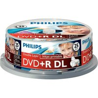 Philips DVD+R DL 8,5GB 240min 8x printable 25pk Spindle