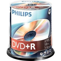 Philips DVD+R 4.7GB 120min 16x 100pk Spindle