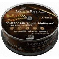 MediaRange CD-R 800MB 90min Multispeed 25pk Spindle
