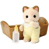 Sylvanian Families Cream Cat Baby