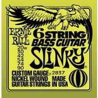 ERNIE BALL 6-string Slinky Bass Guitar w/ small ball end 29 5/8 scale .020w - .090