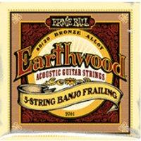 ERNIE BALL Earthwood 5-string Banjo Frailing 80/20 Bronze Loop End gauges 10,13,15,24w,10