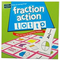 Green Board Games Fraction Action Lotto