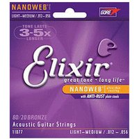 Elixir Strings 80/20 Bronze Nanoweb Light-Medium