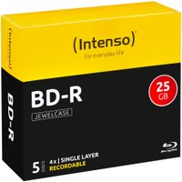 Intenso BD-R 25GB 135min 4x 5pk Jewel Case