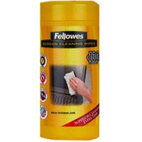 Fellowes 100 Screen Cleaning Wipes (Tub) 99703