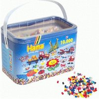 Hama 10,000 Beads in a Bucket - Solid Mix