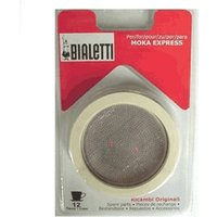 Bialetti 9746 Strainer + Replacement Gasket for Espresso Pots 12 Cups