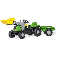 Rolly Toys RollyKid Tractor with Loader and Trailer Green