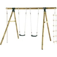 Plum Products Gibbon Wooden Garden Swing Set