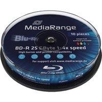 MediaRange BD-R 25GB 135min 4x Inkjet Fullsurface printable 10pk Spindle