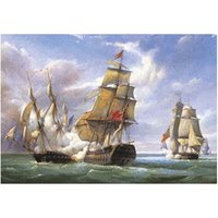 Castorland Combat between the French Frigate La Canonniere and the English Vessel The Tremendous