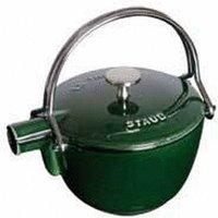 Staub Round teapot basil