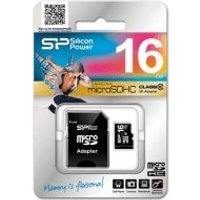 Silicon Power microSDHC 16GB Class 4 (SP016GBSTH004V10-SP)