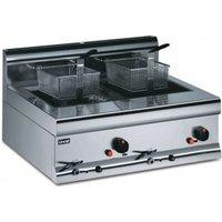 Lincat Silverlink 600 Gas Counter Top Twin Fryer (DF7P Propane)