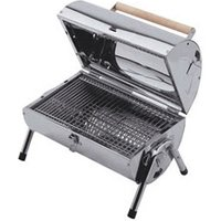 Lifestyle Appliances Explorer stainless steel charcoal barrel BBQ