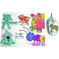 Saitek FABric Animals Mouse+Mat