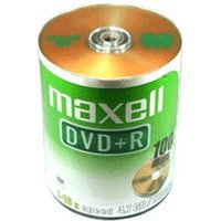 Maxell DVD+R 4,7GB 120min 16x 100pk Bulk Spindle
