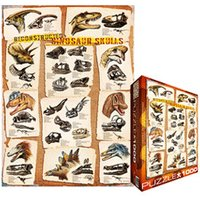 Eurographics Puzzles Reconstructed Dinosaur Skulls, 1000 Pieces
