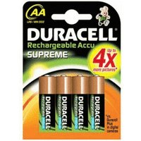 Duracell 4x AA / HR6 2450 mAh Supreme Rechargeable