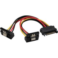 InLine SATA power Y cable, SATA Bu to 2x SATA St angled, 0.15m (29683W)