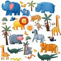 RoomMates Jungle Animals Wall Decoration