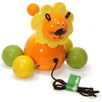 Vilac Push and Pull Baby Toy, Baby Lion