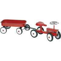 Goki Tractor with Trailer Metal (14148)