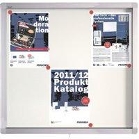 Franken Showcase ECO Whiteboard 75x70,4x4,5cm with Swing Doors