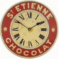 Roger Lascelles Enamel French Wall Clock St Etienne Chocolat
