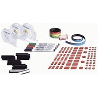 Franken Planner Accessory Set with Nameplates Magnetic Strips Adhesive Tape and 4 Finemarkers