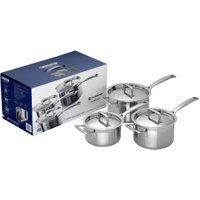Le Creuset 3-Ply Stainless Steel Saucepan Set, 3 Piece