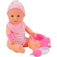 Simba Born Baby Doll with Drinking and Nappy-Wetting