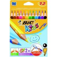 BIC Kids Evolution Triangle Colour Pencils 12 pcs