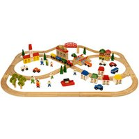 Bigjigs Town And Country Train Set 101 pieces