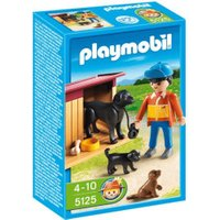 Playmobil Boy with Yard Dog & Puppies (5125)
