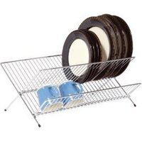 Kitchen Craft KCFOLDDISH Chrome Plated Large Fold Away Dish Drainer